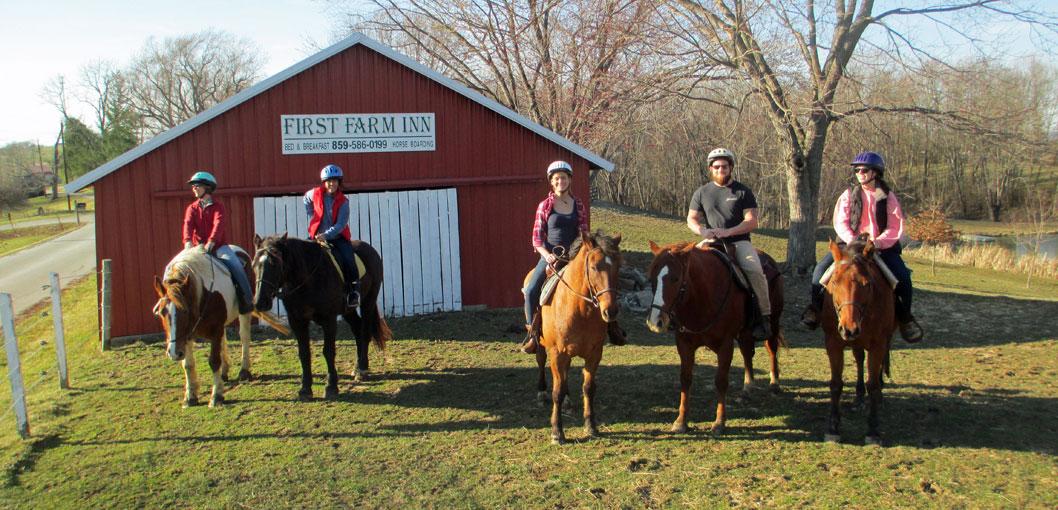 kentucky bed breakfast, horseback riding, ride horses, Kentucky