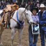 Winning horseback rider